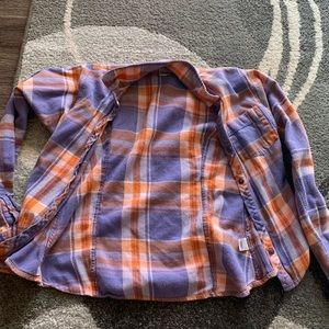 blue and orange flannel